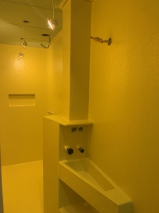 polyester badkamer topcoat geel